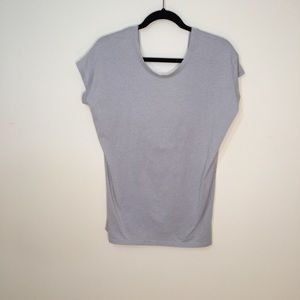 Fabletics Taupe Open Twist Back Tank Size S